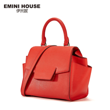EMINI HOUSE Split Leather Shoulder Bag Fashion Trapeze Bag High Quality Women Messenger Bags Luxury Handbags Women Bags Designer