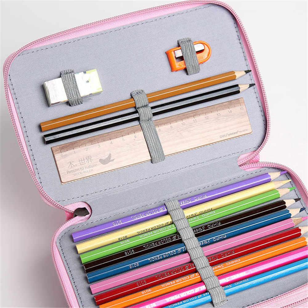 Kawaii милый школьный пенал для девочек и мальчиков ручка сумки дерево Multi 2/3/4 Слои 32/52/72 Отверстия уголовное Pencilcase Канцелярские сумка коробка