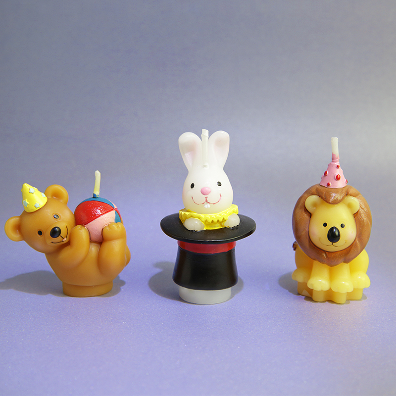 Creative Scented Birthday Weddings Candles Animals Cute Cartoon Flameless Candles Cake For Children Gifts Birthday Decoration