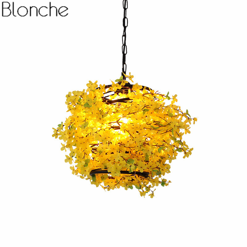 Modern Flower Plant Pendant Lights Nordic Led Hanging Lamp for Living Room Restaurant Kitchen Light Fixtures Home Decor Fixtures for kids w case mute bow strings students beginner acoustic violin oil varnish craft stripe solid wood violino violin 4 4 3 4