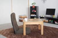 Asian Traditional Kotatsu Table Square 65cm For 1 2 Person Living Room Furniture Foot Warmer Heated