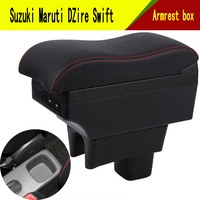 For Maruti DZire Swift armrest box central Store content box with cup holder phone holder decoration With USB interface