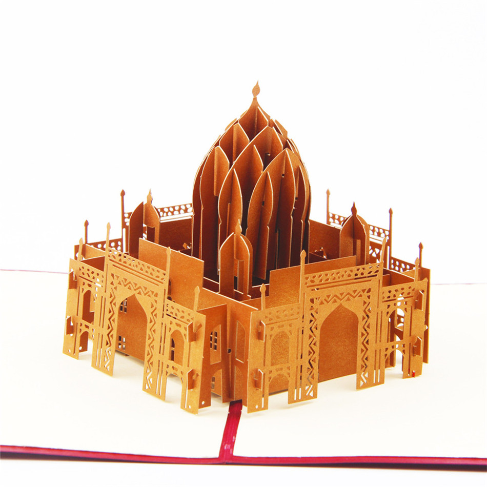 Valentines day cards business custom available vintage 3d handmade valentines day cards business custom available vintage 3d handmade taj mahal 3d pop up greeting cards in cards invitations from home garden on colourmoves
