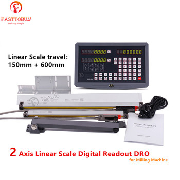 150mm & 600mm 2 Axis Linear Scale  Linear Encoder + Digital Readout DRO for Drill/EDM/Milling/Grinding/Lathe Machine