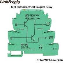 MRI-24TR/INV NPN PNP Inversion Opticalcoupler Interface Relay Module LED Indicator PLC Photoelectrical Coupler Isolation