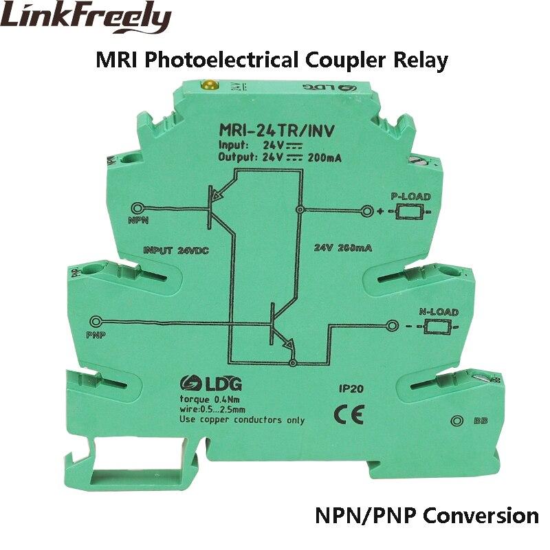 MRI-24TR/Module de relais d'interface de coupleur optique d'inversion de Signal de NPN PNP indicateur LED relais d'isolement d'optocoupleur de PLC