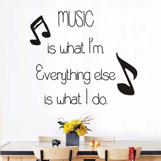 Music Is What I\'M Wall Stickers Home Decor DIY Removable Musical ...