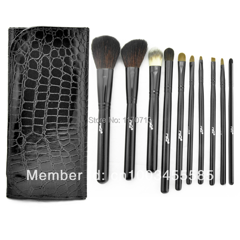 FREE SHIPPING! Best Quality Kolinsky Hair Professional Makeup Brush Set 10PCS/Set Including a Leather Bag! best new product on sale 30% 750ml brazilian keratin hair treatment hair free shipping