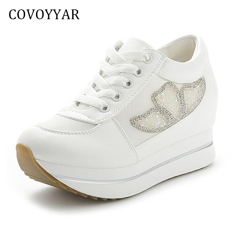 COVOYYAR 2018 Platform Wedges Women's Sneakers Spring Summer High Quality Mesh Breathable Women Trainers Casual Shoes WSN606