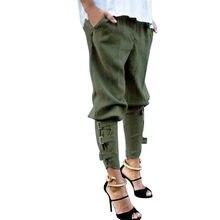 4349ed9fd19 Feitong Женские однотонные новые повседневное шаровары мешковатые хип хоп  танец пот Слаксы мотобрюки шнурок сладкий брюки