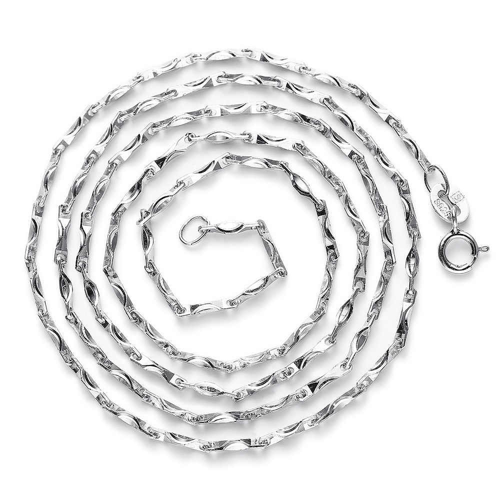 Unikalne 100% prawdziwa czysta 925 Sterling Silver naszyjnik 1MM sycee łańcuch dla kobiet mężczyzn. Najwyższej jakości biżuterii darmowa wysyłka NL005