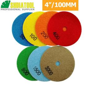 Image 3 - SHDIATOOL 10sets (7pcs/set) Dia100mm/4inches Dry Diamond Polishing Pads 70pcs Resin Bond Diamond Flexible Sanding Disk