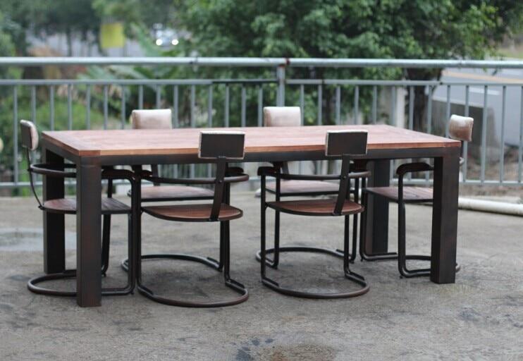 Madera de hierro mesas y sillas de comedor hierro forjado for Mesas y sillas de comedor de madera