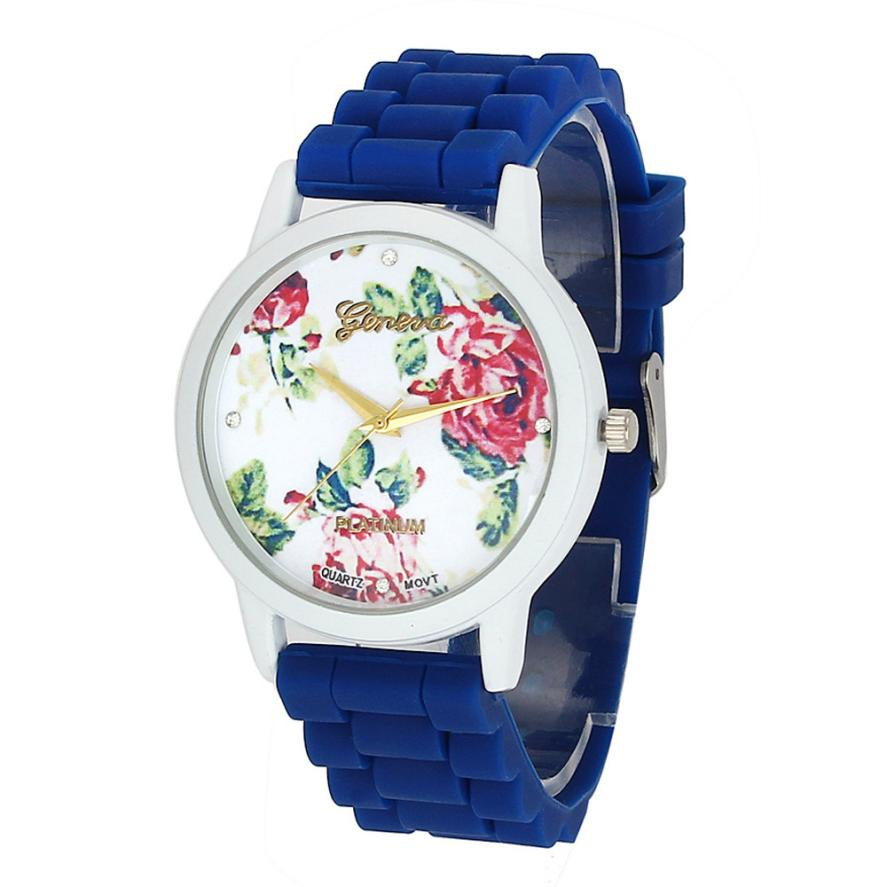 Fashion Women Watches Flower Dial Colorful Silicone Analog Quartz Wrist Watch Casual Watch ladies Dress Watches Relogio Feminino big dial rotating flower wristwatch women dress rhinestone watches fashion casual quartz watch luxury brand relogio feminino