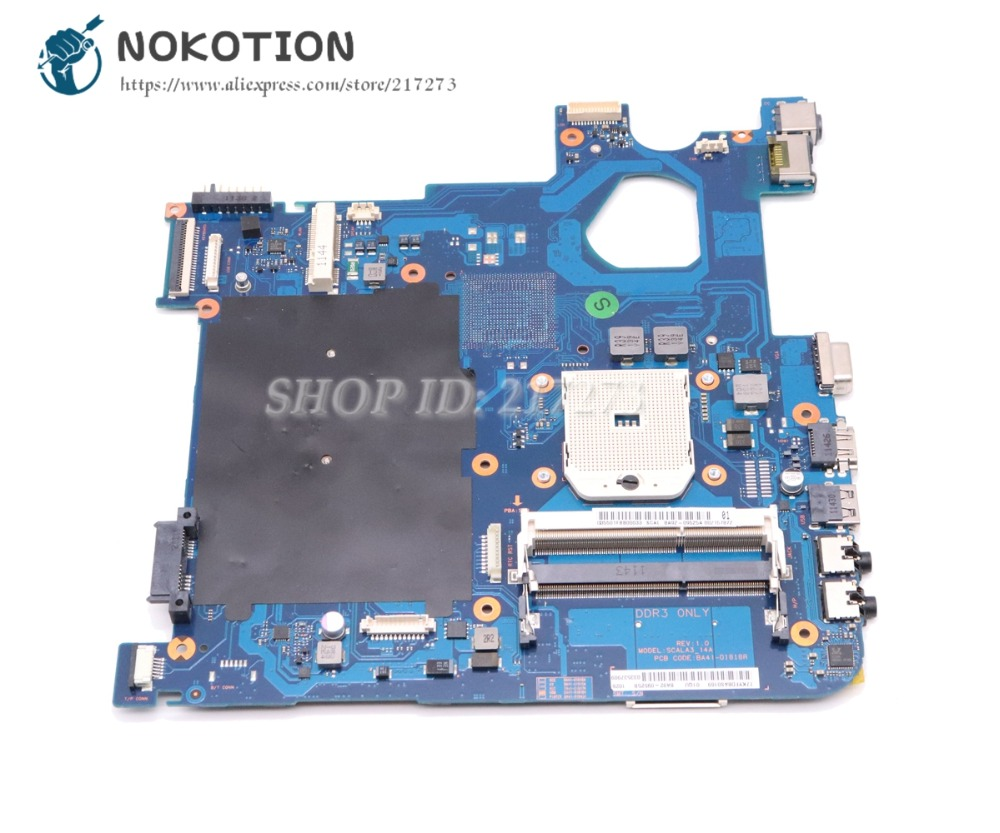 цена на NOKOTION For Samsung NP305 NP305E4A NP305E5A Laptop Motherboard Socket FS1 DDR3 BA92-09525A BA92-09525B BA41-01818A