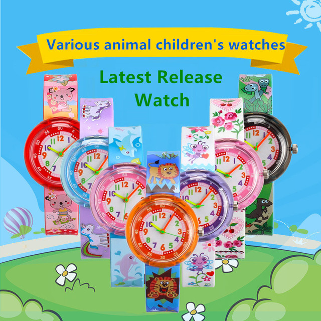 Various cartoon animal student casual Children's watches kids girl boy silicone