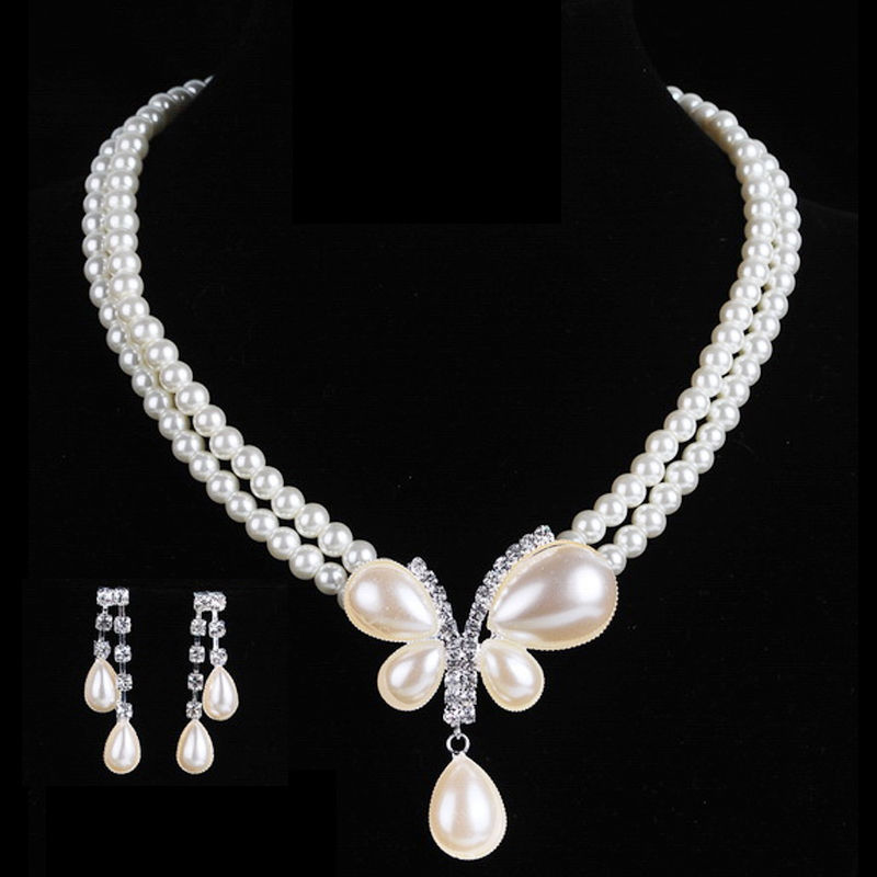Šarmantna nevjesta vjenčanje biser nakit set kristal privjesak - Modni nakit - Foto 3