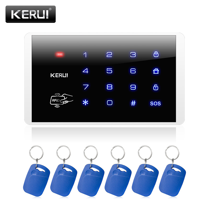 Kerui Wireless Keypad RFID Disarm Alarm System Touch Screen Keyboard For Kerui Home Security Alarm System k16 rfid touch keypad for kerui wireless pstn gsm alarm systems burglar access control system wireless password keypad