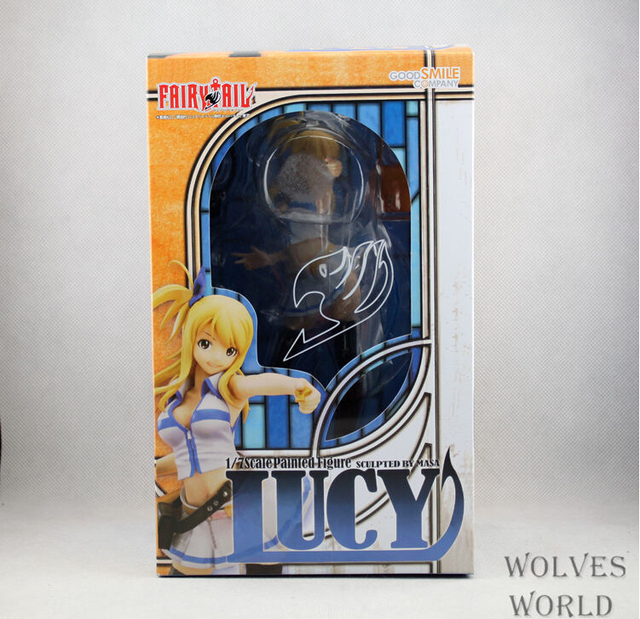 21cm Anime Fairy Tail Lucy Heartphilia Action Figure PVC Collection figures toys for christmas gift brinquedos