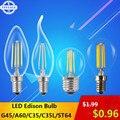 LightInBox Qualidade Antigo Edison Lâmpada LED E27 E14 CONDUZIU a Lâmpada do Bulbo 220 V Retro Do Vintage Luz Filamento LEVOU Luz de Velas lâmpada