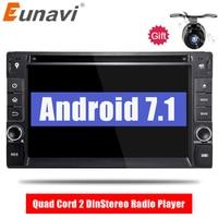 Eunavi Quad шнура 2 Din Android 7,1 автомобиль DVD gps стерео радио плеер для Nissan Qashqai x trail Sentra Versa treeano Солнечный Micra