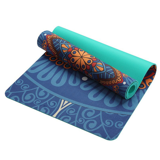 New 5mm Antiskid Natural Suede Yoga Mat Multifunctional Gym Mat For Fitness Losing Weight Sports Camping Pilates Exercise Mats