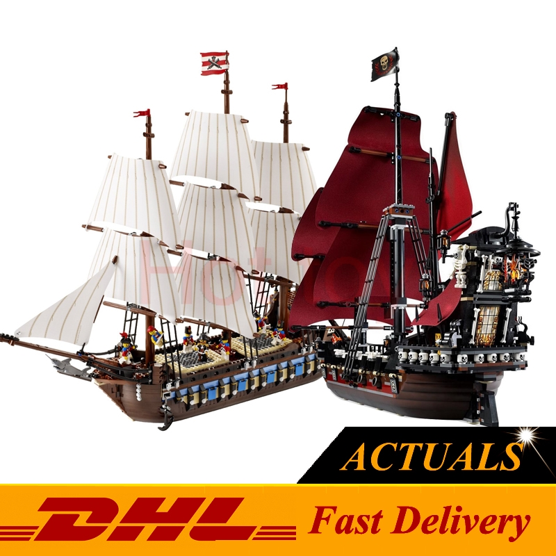 ФОТО LEPIN 22001 Imperial Warships  + 16009 Queen Anne's revenge Model Building Blocks For children Pirates Toys Clone 10210 4195