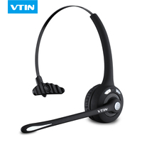 Upgraded VTIN Professional Bluetooth Headset BTH 068 Wireless Headphone Black Headband UP To 12 Hours Hands