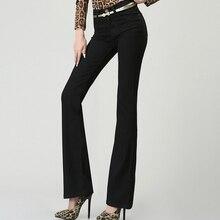 Весна и осень новый микро-динамик высокой талией джинсы женские черные брюки Тонкий хип стрейч брюки