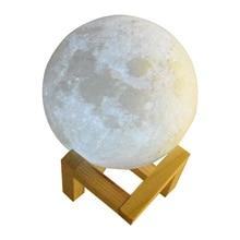 Rechargeable 8-20cm Dia 3D Touch Sensor 2/3/7 Colors Changing Moon Lamp USB LED