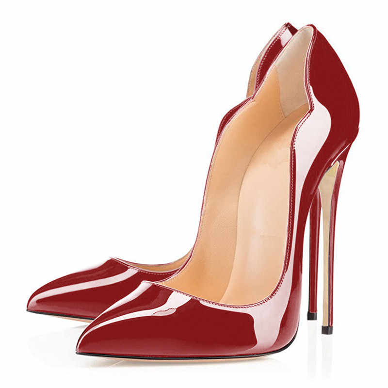 COCOAFOAL נשים של עקבים גבוהים חתונה נעלי העקב אישה Purps סקסי Zapatos Mujer Tacon שחור אדום נשים של עקבים גבוהים נעלי המפלגה