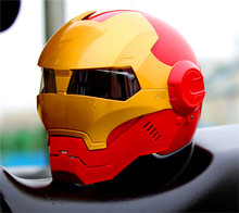 Личность мотоциклов Подлинная шлем мужчины и женщины 610 человек ретро железа высокого класса off-road мотоцикл красный золото
