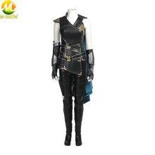 Thor Ragnarok Cosplay Kostuum Thor 3 Valkyrie Cosplay Halloween Kostuum Voor Vrouwen Lederen Mantel Top Broek Custom Made