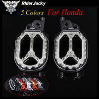 RiderJacky Motorcycle CNC Aluminum Footrests Footpegs Foot Pegs Foot Rests For Honda CRF 250L CRF250L/M 2012 2017 2014 2015 2016
