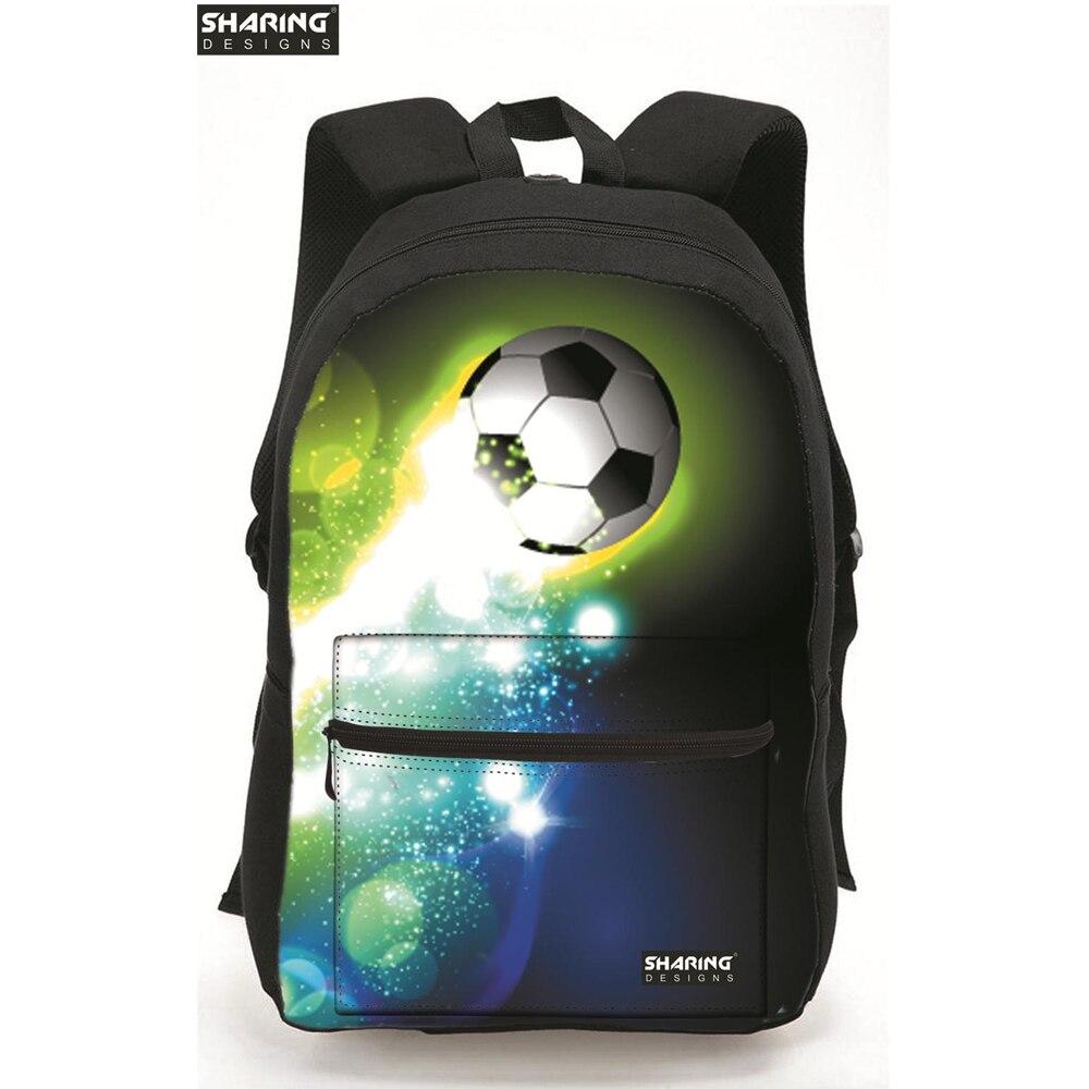 Brand Kids Children Schoolbag Preppy Style FootballPrint Student Book Bags Boys School Bags Casual Ball Style