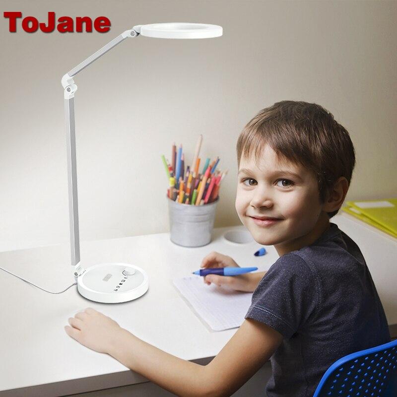 ToJane Lampes de Bureau CCC Led Bureau Lampe Led Ampoules Lampe de Table De Bureau Table Pliante Lampe Réglable Éclairage Bureau Lumière TG2520