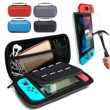 Hard Protective Storage Bag For Nintend Switch NS Video Game Console Carrying Travel Case With Tempered Glass Screen Protector