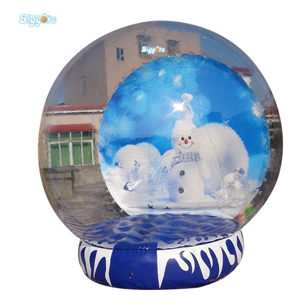 Free Shipping Christmas Cheap Price 3 M Diameter Inflatable Snow Globe Ball  For Advertising