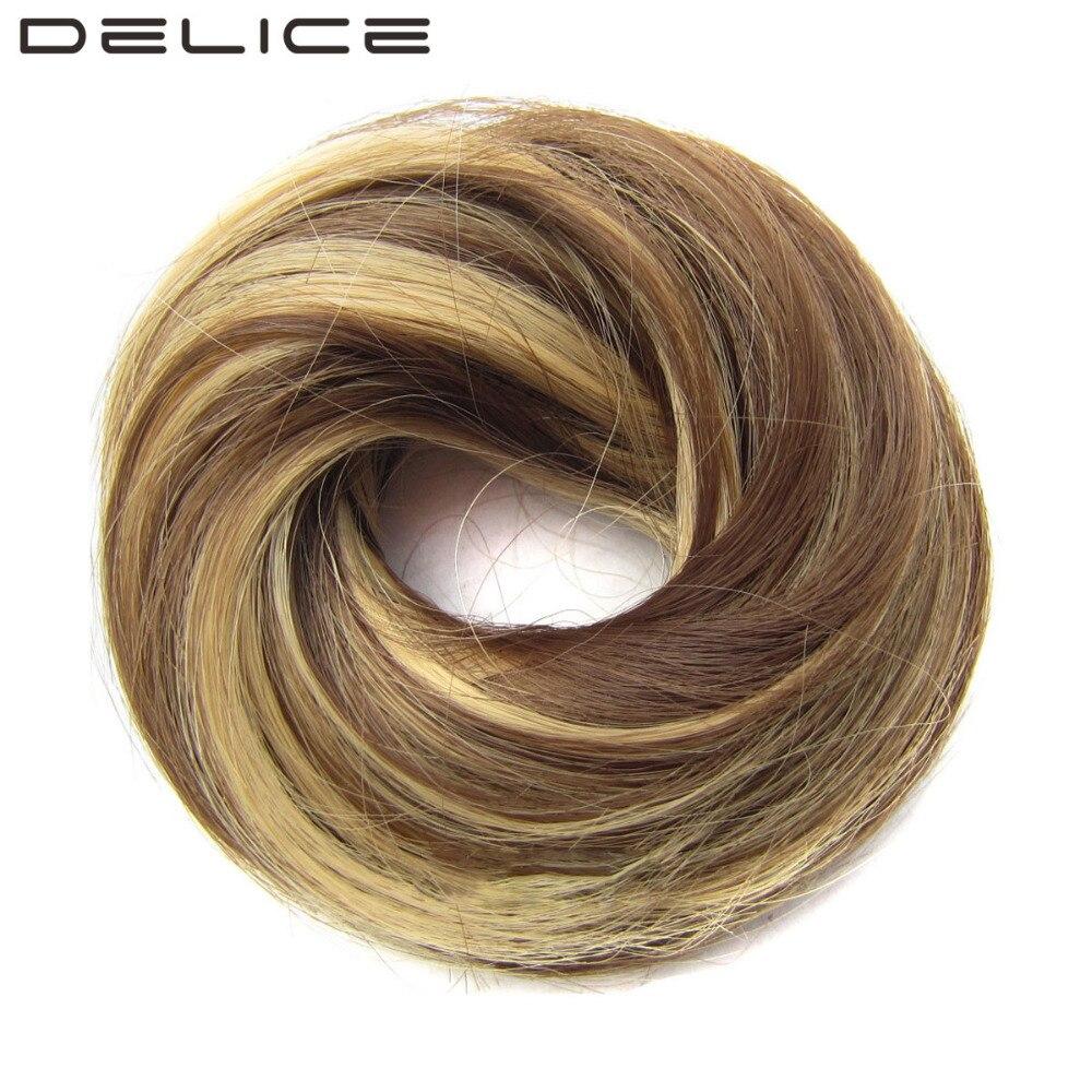 Delice Girls Brown Blonde Rubber Band Scrunchie Wrap Hair