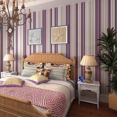 beibehang bedroom wallpaper Purple stripe wallpaper wall paper background  wall wallpaper for living room bedroom contact. Online Buy Wholesale purple wallpaper bedroom from China purple