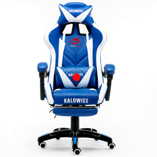 New arrival Racing synthetic Leather gaming chair Internet cafes WCG computer chair comfortable lying household Chair 4
