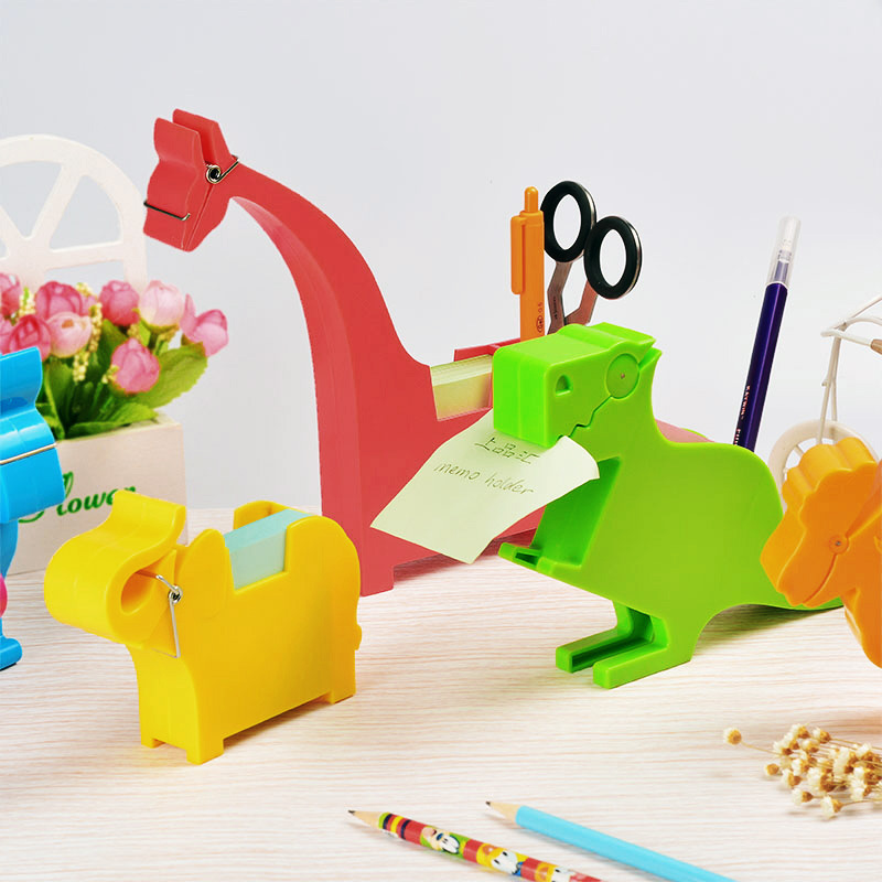 Creative stationery animal notes box variety of optional office supplies desktop storage multi-purpose toilet seat clip