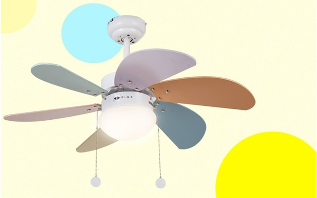 Modern Simplicity 36 Inch E27 Light/LED Light Electric Ceiling Fan 55w  Iron+glass
