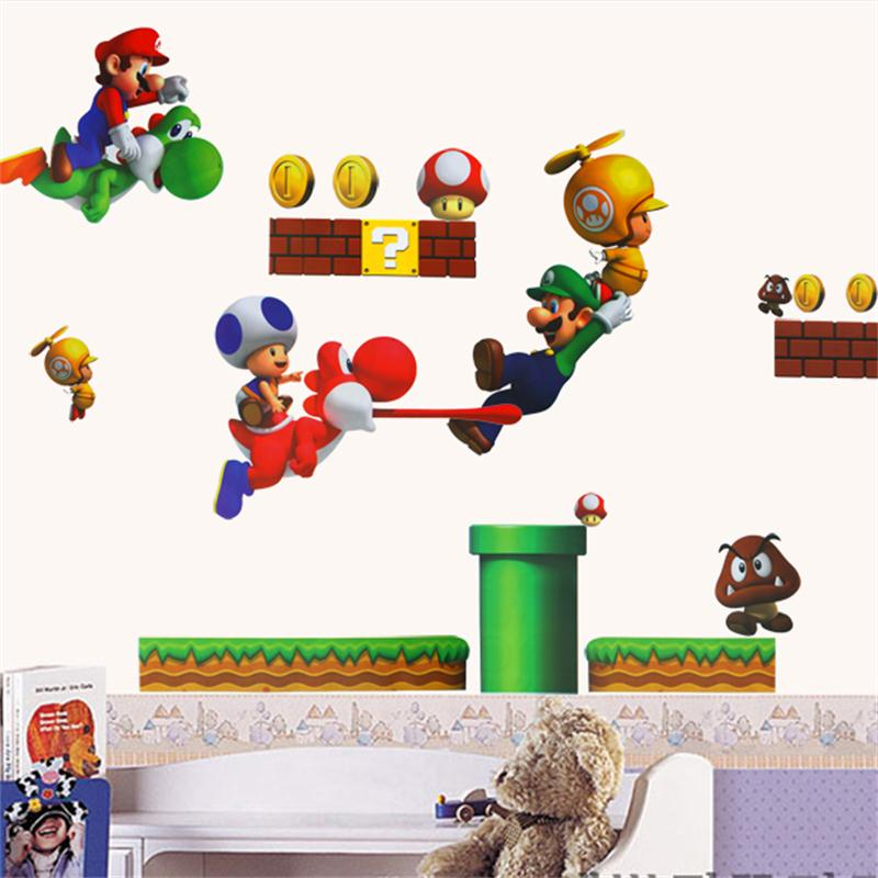 super mario wall stickers for kids room home decor zooyoo1443 ...