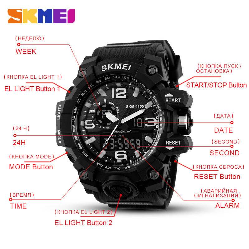 2d3450fe7e81 SKMEI 1155 reloj hombre al mejor precio