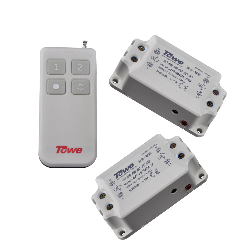 TOWE AP-WSK1/D-2 Wireless 220V 10A Two Ways Power Segment Switch 220V Through The Wall Autocephaly Remote Control Switch