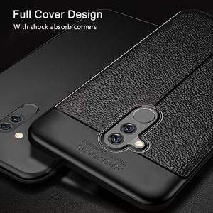 Image 3 - עבור Huawei Mate 20 לייט מקרה Mate 20 Lite כיסוי רך TPU פגוש עור מרקם סיליקון מוקשח מקרה עבור Huawei mate 20 לייט