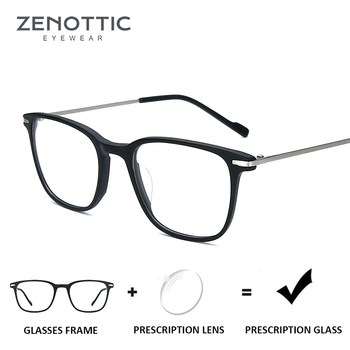 ZENOTTIC Anti - Blue - Ray แว่นตา Unisex สายตาสั้นสายตายาวกรอบแว่นตาผู้หญิง Photochromic Clear แว่นตา