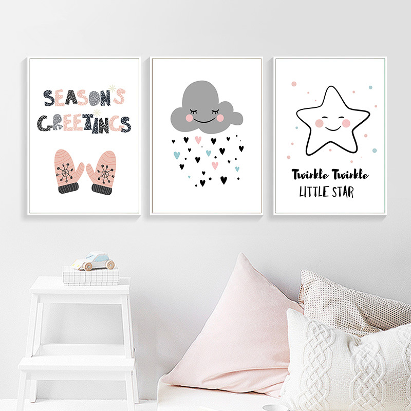 Detail feedback questions about season greetings wall art canvas detail feedback questions about season greetings wall art canvas painting little star art poster room decor wall pictures on aliexpress alibaba group m4hsunfo