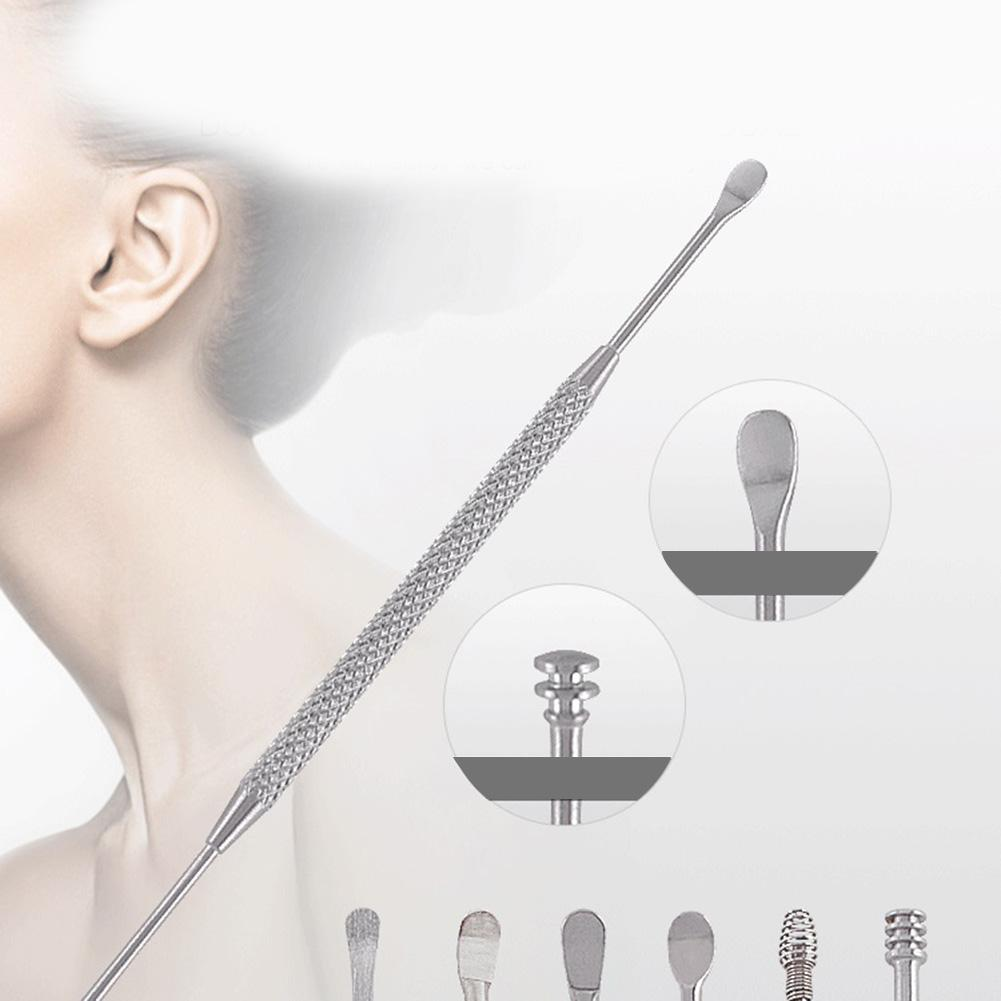 7pcs Tips Rotating Smart Ear Wax Pickers Stainless Steel Ear Wax Remover Earpick Ear Cleaner Set Tool With Storage Box in Nose Ear Trimmer from Beauty Health